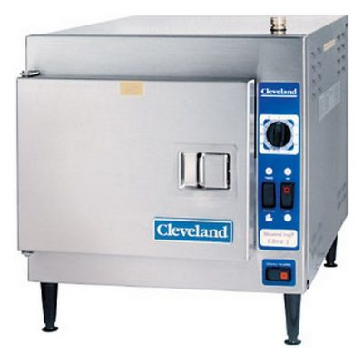 "Cleveland 21CET8 Convection Steamer, (3) 12""x20""x2-1/2"" Pan Capacity"